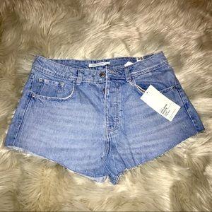 Zara High Waist Jean Shorts (Daisy Dukes)